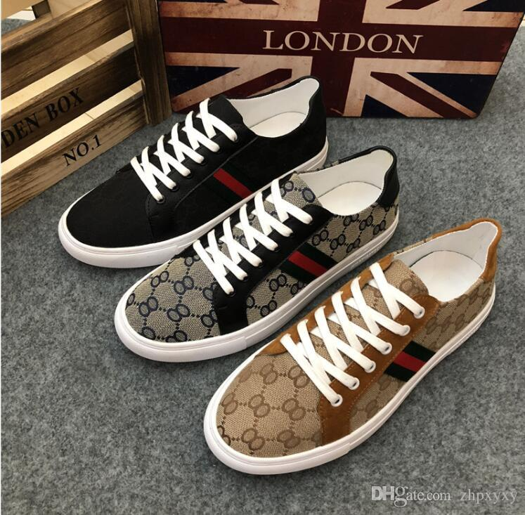 6f7672cba3341 High Quality Men Shoes Leather Casual Black Shoes Mens Spring Autumn Lace  Up Men Fashion Sneakers D2a50 Cheap Trainers Blue Shoes From Zhpxyxy