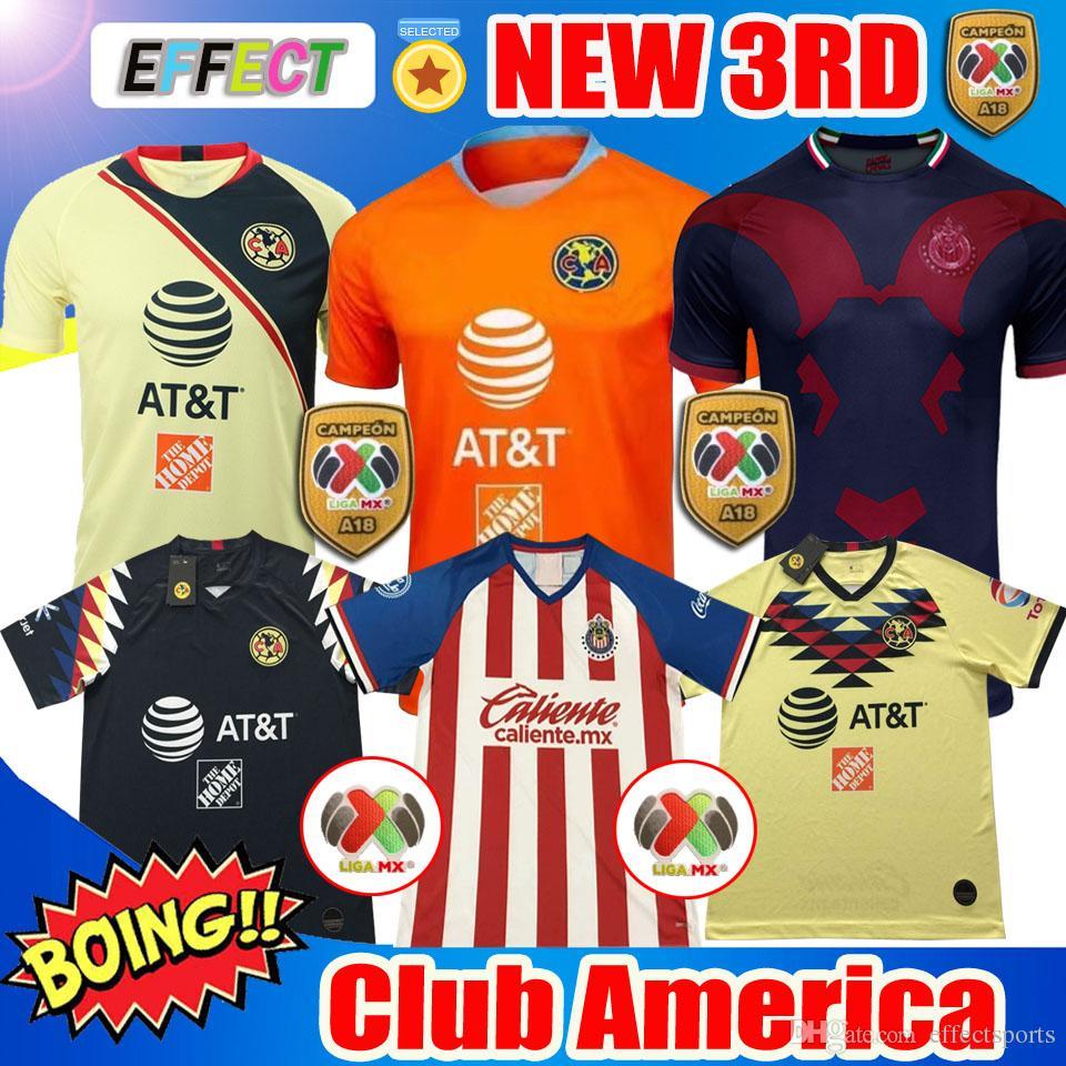 d269ad0bf00 New 2019 Chivas De Guadalajara Home Jerseys Soccer Jerseys 19 20 MEXICO Club  America Tigres UNAM 2020 LIGA MX Cruz Azul Football Shirts Canada 2019 From  ...