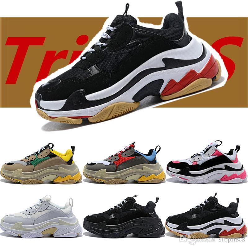 e7eec0bb35d2a Acheter Balenciaga Shoes Avec La Boîte D origine Designer Chain Reaction  Chaussures De Course Hommes Marque De Luxe Femmes Baskets De Sport  Formateurs ...