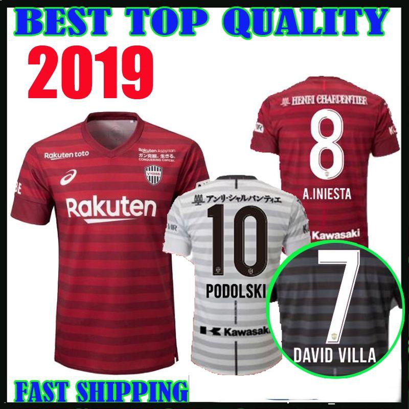aee50fc1083 2019 New 2019 Vissel Kobe Soccer Jersey Home Away Third 19 20 Japan League  A.INIESTA PODOLSKI DAVID VILLA Football Shirts Top Quality Customize From  ...