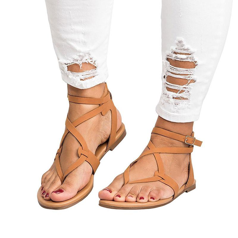 f8462bfae Women Buckles Summer Sandals 2018 Women Shoes Bandage Summer Female ...