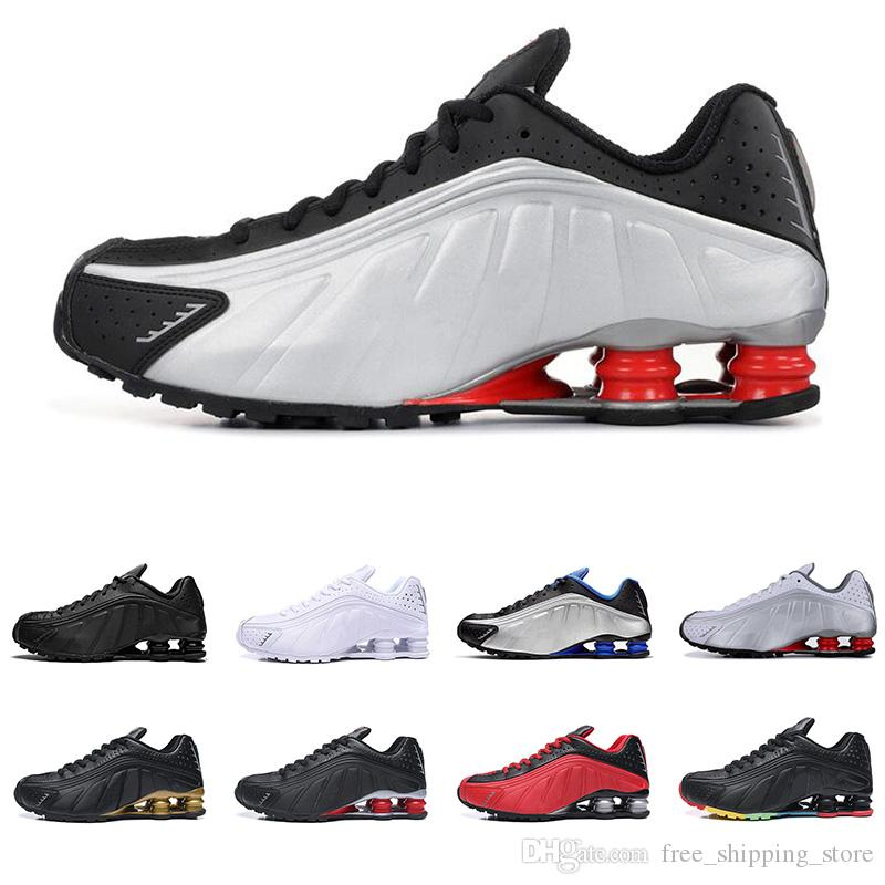 16014a00 2019 R4 men women running shoes top quality OG triple Black Metallic white  RACER BLUE COMET RED mens trainers fashion sports sneakers