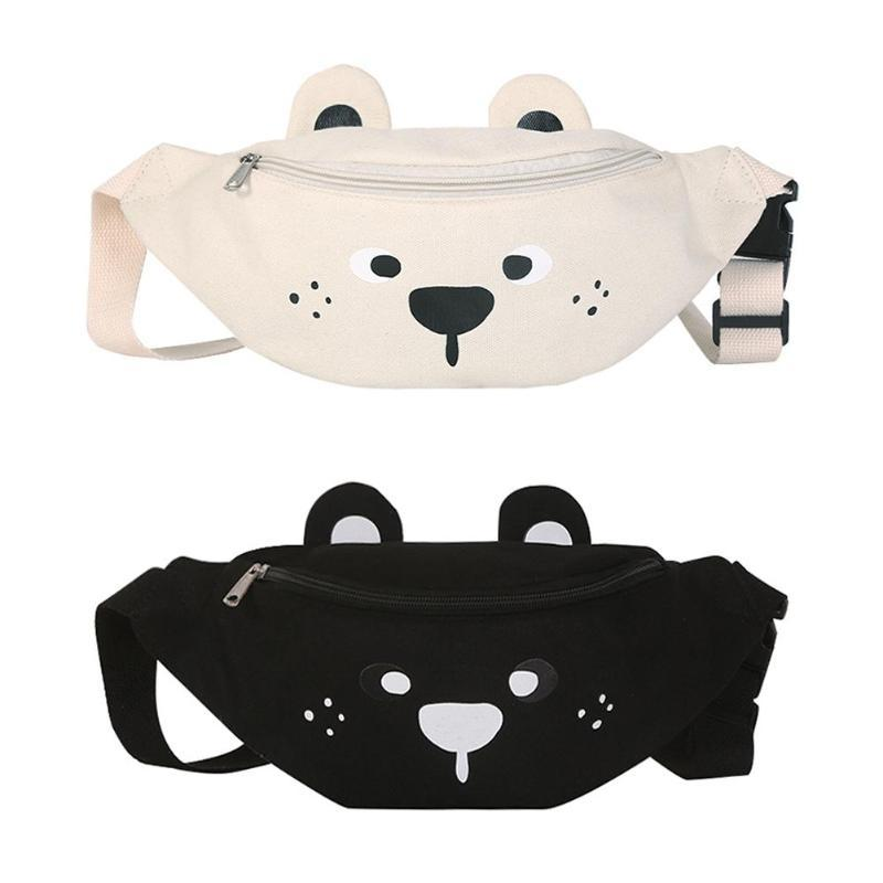 Sweet Bear Waist Belt Bag Women Canvas Cute Cartoon Teenage Style Fanny Bags Pillow Phone Lipstick Travel Messenger Chest Pack