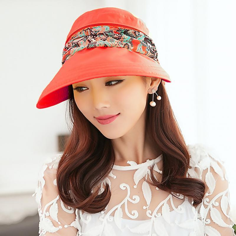 Summer Outdoor Riding Anti-UV Sun Hat Women Beach Foldable Sunscreen Floral  Print Caps Neck Face Wide Brim For Ladies C18122501 Online with   22.79 Piece on ... bfffecd118ec