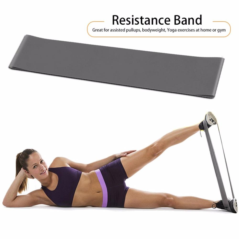 Yoga Fitness Resistance Band Elastic Latex Belt Loop Pull Strength Training free