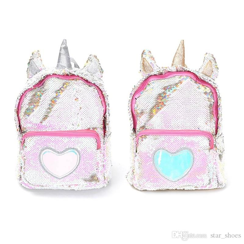 New Sequins Unicorn Backpack Women PU Leather Mini Travel Soft Bag Fashion SchoolBag For Teenager Student Girls Book Bag Satchel #274495
