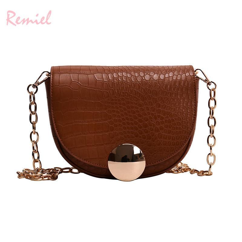 753c39f781 Vintage Mini Saddle Bag 2019 Fashion New High Quality Pu Leather Women S  Designer Luxury Handbag Chain Shoulder Messenger Bags Branded Handbags  Ivanka Trump ...