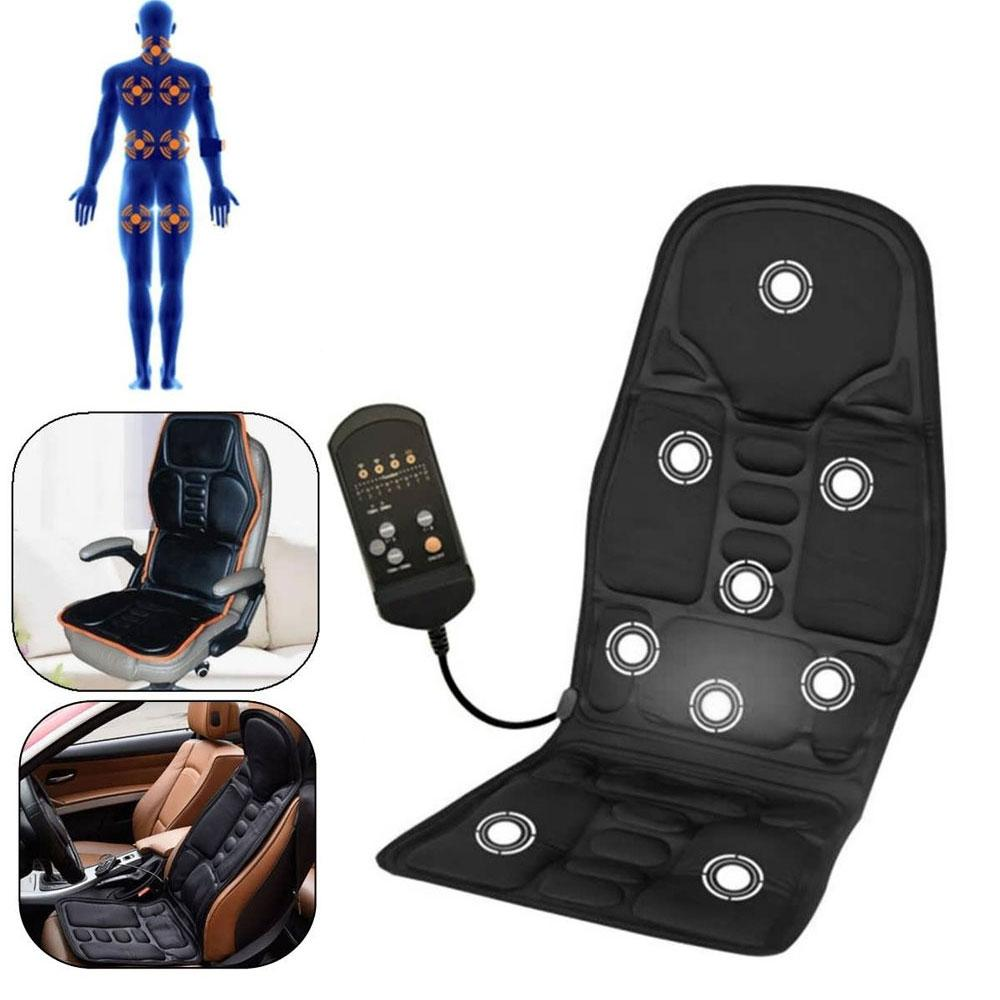 Health Care Beauty & Health 12v Electric Portable Heating Vibrator Back Massager Chair Car Home Office Lumbar Neck Pain Relief Massage Cushion Pad Seat