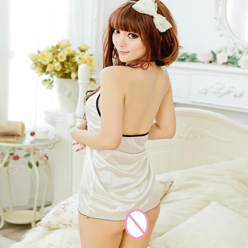 Conjuntos eróticos Branco Aberto Para Trás Sexy Em Camadas de Lingerie Erótica Transparente Transparente Underwear Bra Calças Exóticas Vestuário