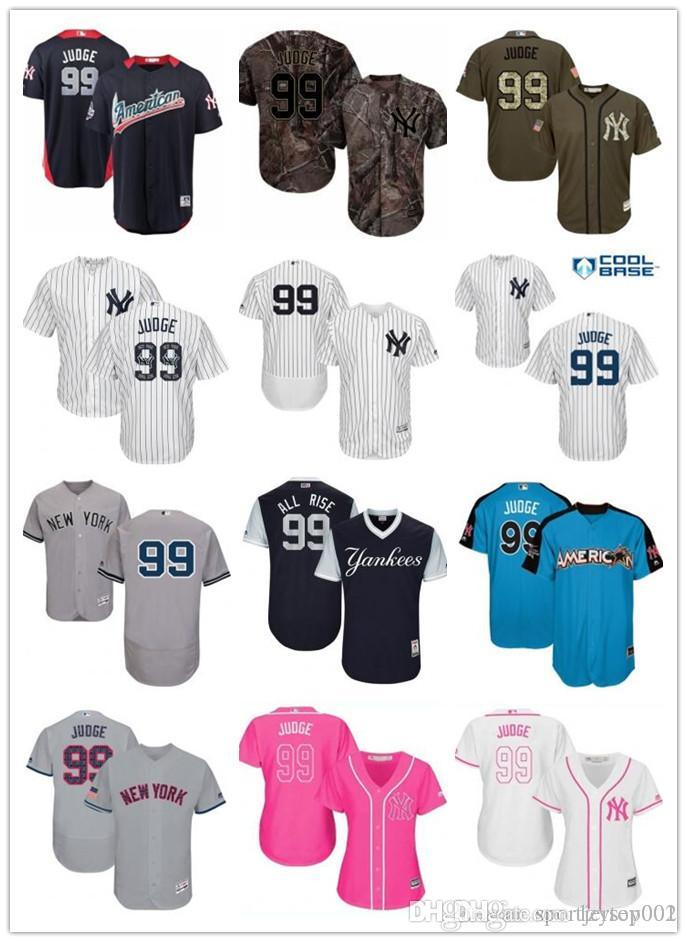 sale retailer 7025e 53da4 custom New York Men/Women/Youth Yankees 99 Aaron Judge El Mago Program  Replica Celtic Flexbase Authentic Baseball Jerseys