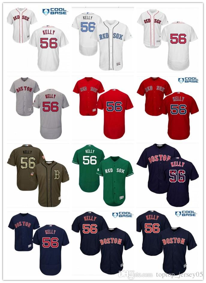 7257c5dd1046 2018 Boston Red Sox Jerseys # 56 Joe Kelly Jerseys men#WOMEN#YOUTH#Men's  Baseball Jersey Majestic Stitched Professional sportswear