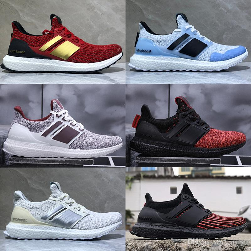new arrival 45f7b acab0 Acheter Pas Cher Game Of Thrones Ultra Boost Dragons Targaryen Lannister  Stark White Walkers Hommes Femmes Ultraboost UB 4.0 PK Casual Chaussures  Sneakers ...