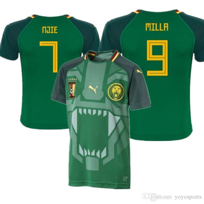 84ad6d7066 2019 World Cup 2018 Cameroon Home Men Soccer Jerseys Futbol Camisa National  Football Camisetas Shirt Kit Maillot From Yoyosports, $26.29 | DHgate.Com