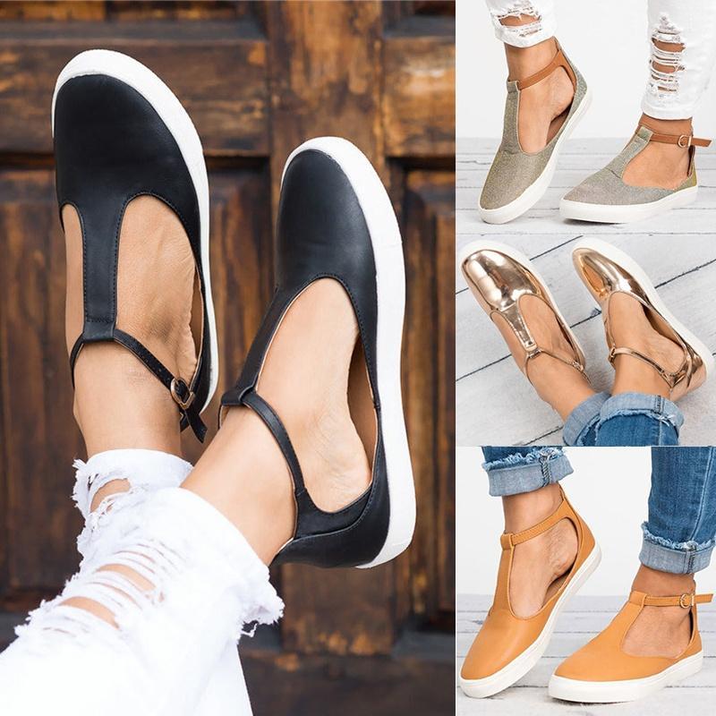 Acheter Été Femmes Sandales Mode Femmes Bout Fermé Plat Chaussures Femme  Femme Chaussures Respirant Sandalias Plus La Taille De $22.35 Du Dusala