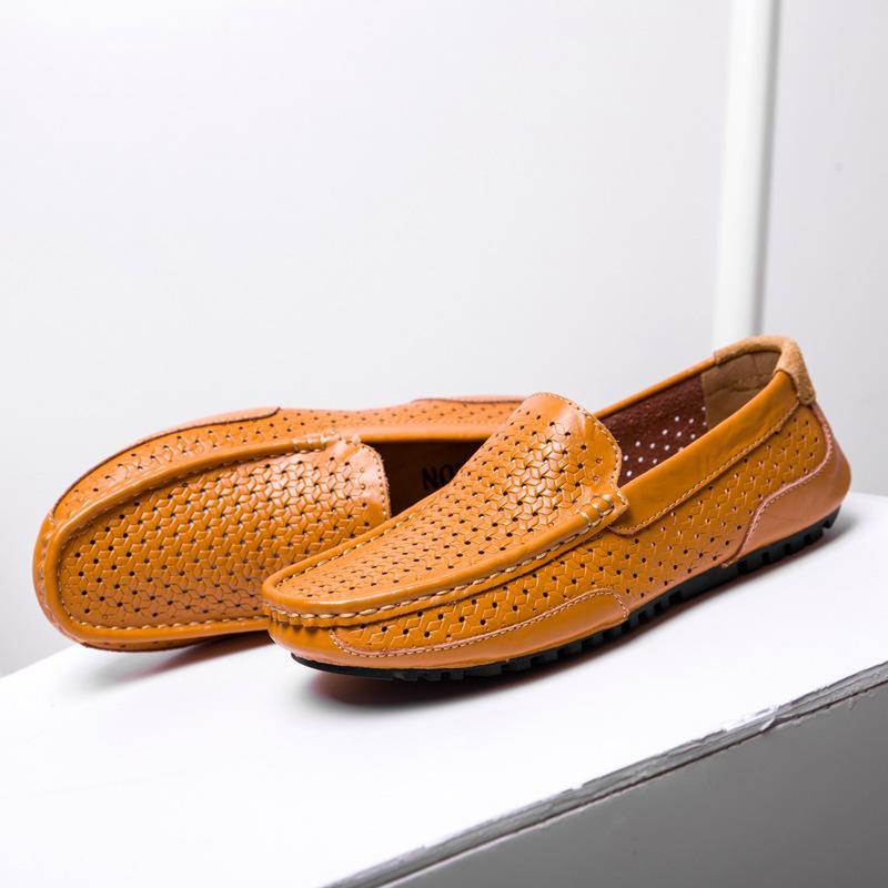 Cuero Primavera Zapatos Planos Casual Conducción Para Verano 2018 De Hombres Moda W2EHID9Y