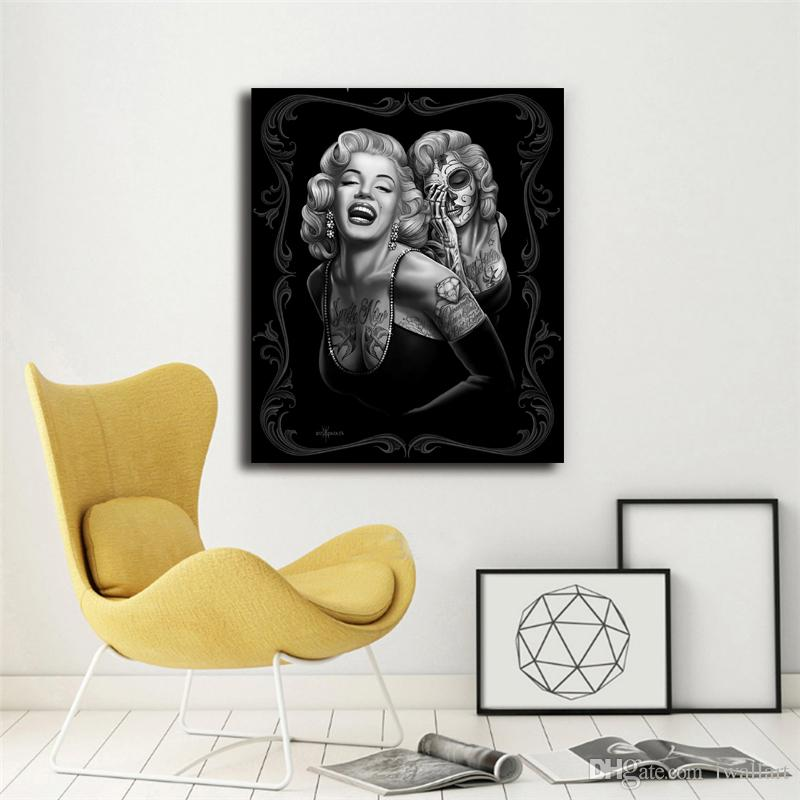 Marilyn Monroe Portrait Canvas Painting Print Bedroom Home Decor Modern Wall Art Oil Painting Poster Artwork