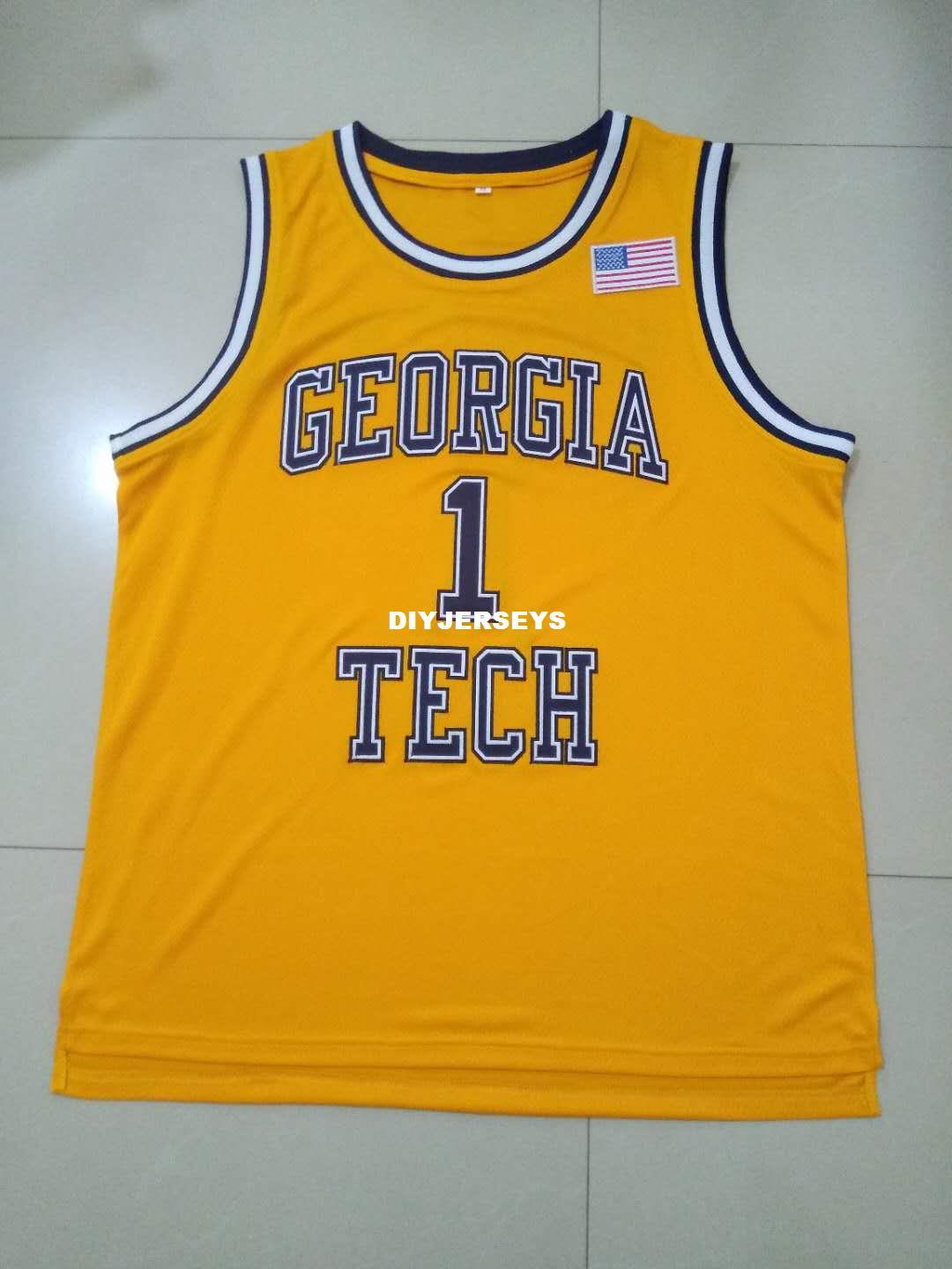 eff57144c8ff 2019 Men  1 Circa 1989 Iman Shumpert Game Worn University Of Georgia Tech  Yellow Jackets Jersey Or Custom Any Name Or Number College Jersey From  Diyjerseys