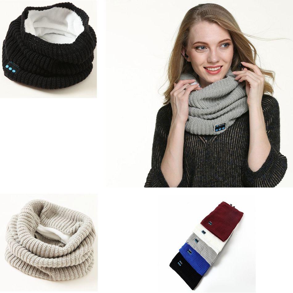 Compre Unisex Bluetooth Inalámbrico Bufandas Pañuelo Para El Cuello ...