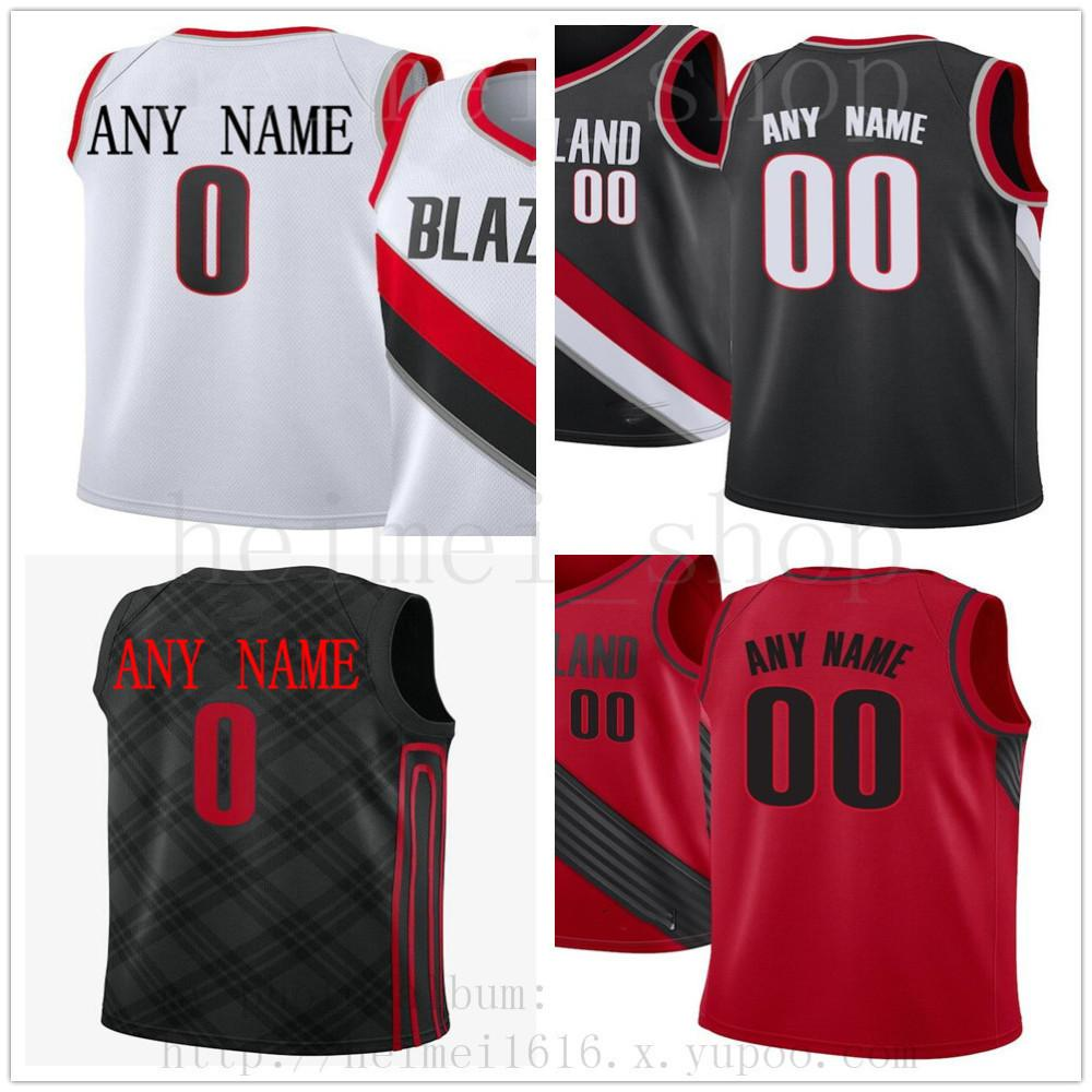 deda4415679f 2019 Custom Printed PortlandTrailBlazersJersey Top Quality 2019 New Mens  Man White Red Black City Jersey. Message Number And Name On Order From ...