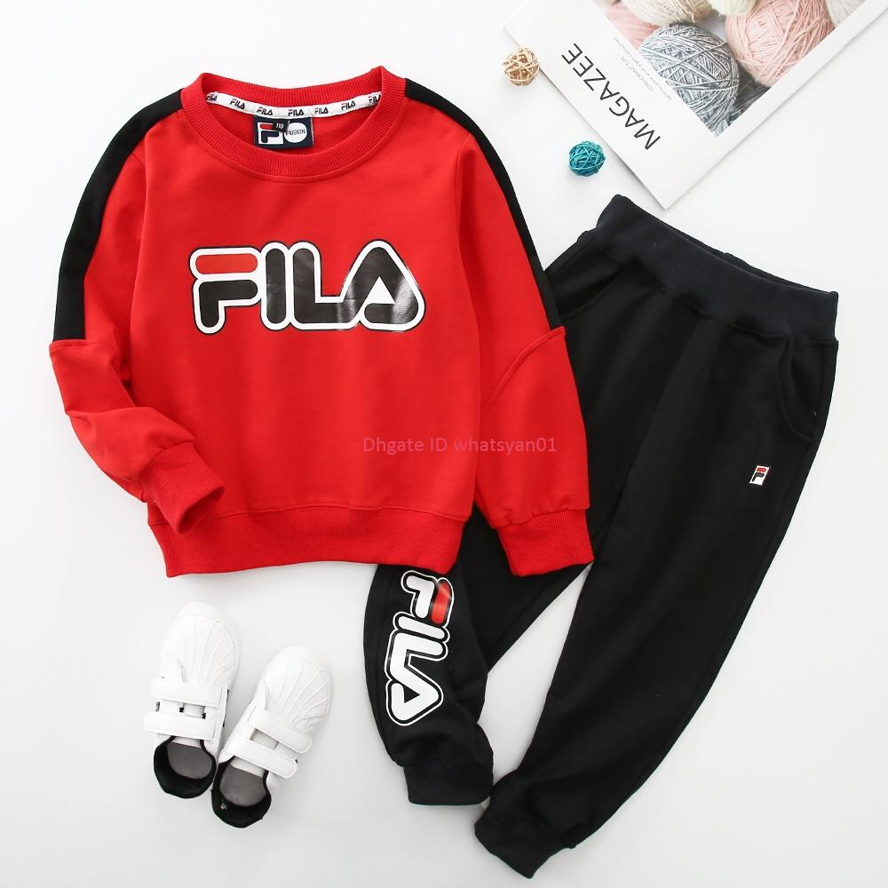 New Boy Sweatshirt sets autumn kids designer clothing letter print Sweatshirt + casual pants 2pcs combed cotton sets childrens clothes