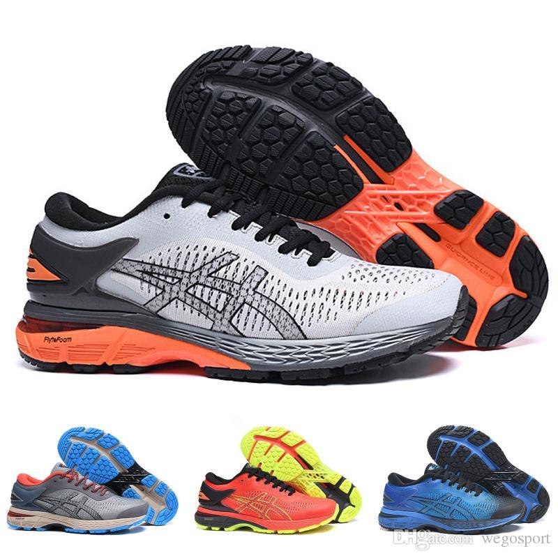 0ee3566977 2019 asics gel kayano25 estável tênis de corrida das mulheres dos homens  preto vermelho branco melhor qualidade designer de tênis calçados esportivos  40--45