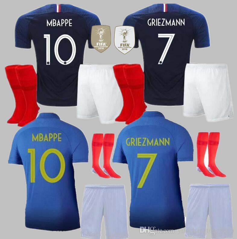 save off 3cd7e 6670e adult Mbappe 100th JERSEY POGBA France FFF 100th blue jerseys centenary  jersey 2019 Centenaire Maillot 2019 football jersey