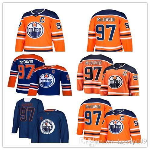 huge selection of 9cdef f406b custom 2019 Men s Oilers 97 Connor McDavid Royal Alternate Authentic Player  Edmonton women kids Jersey