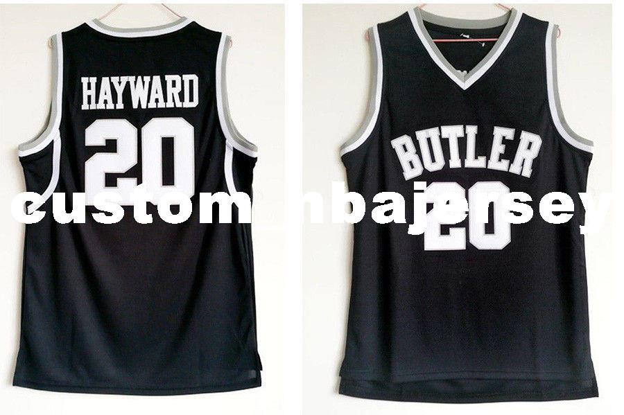 promo code 15fb3 3d899 Cheap custom Gordon Hayward #20 Butler College Basketball Jersey Black  Stitch customize any number name MEN WOMEN YOUTH XS-5XL