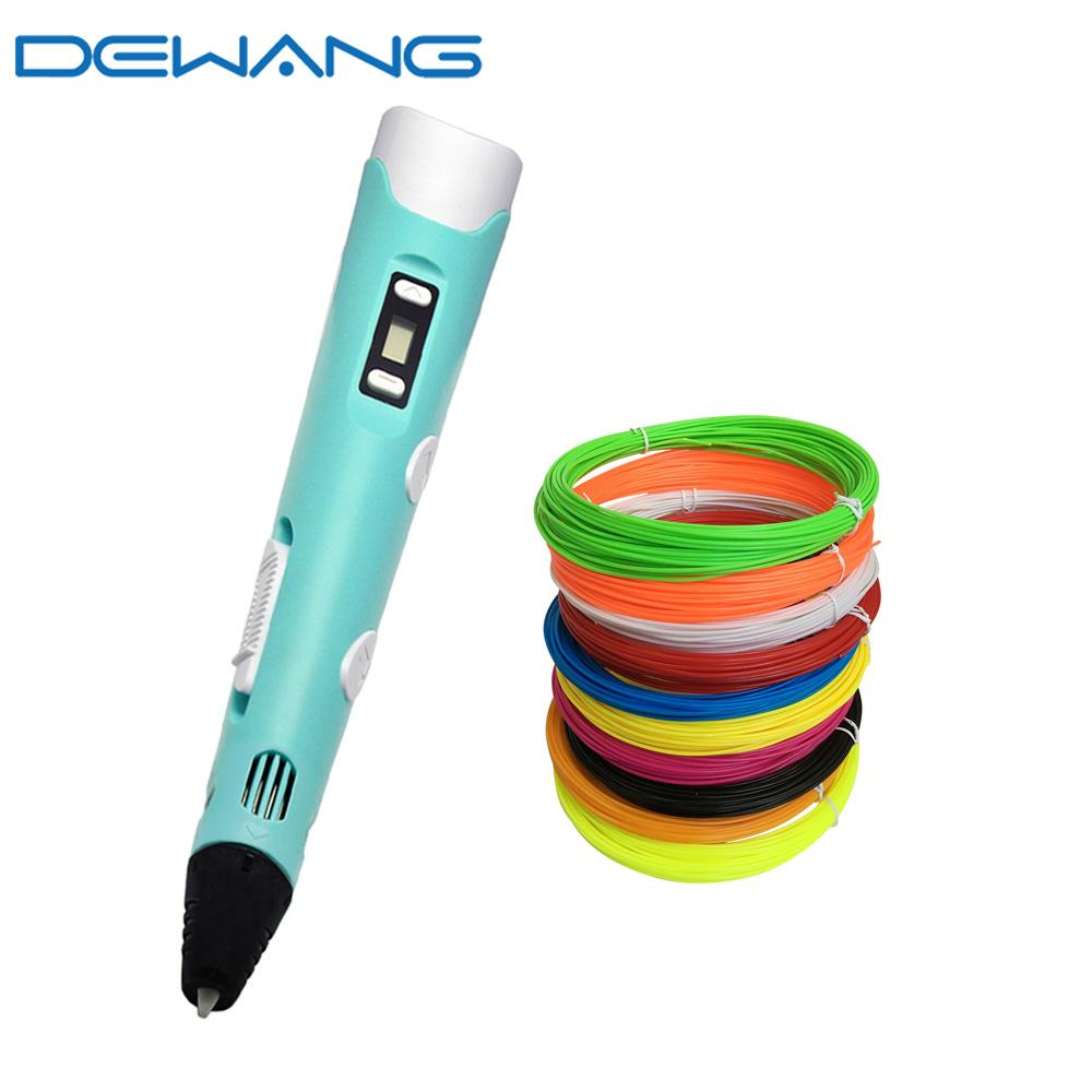 DEWANG 3d Drawing Pen for Kids Children DIY Printing Painting Pen with LCD  Display Screen Birthday Christmas Gifts 3 d Pens