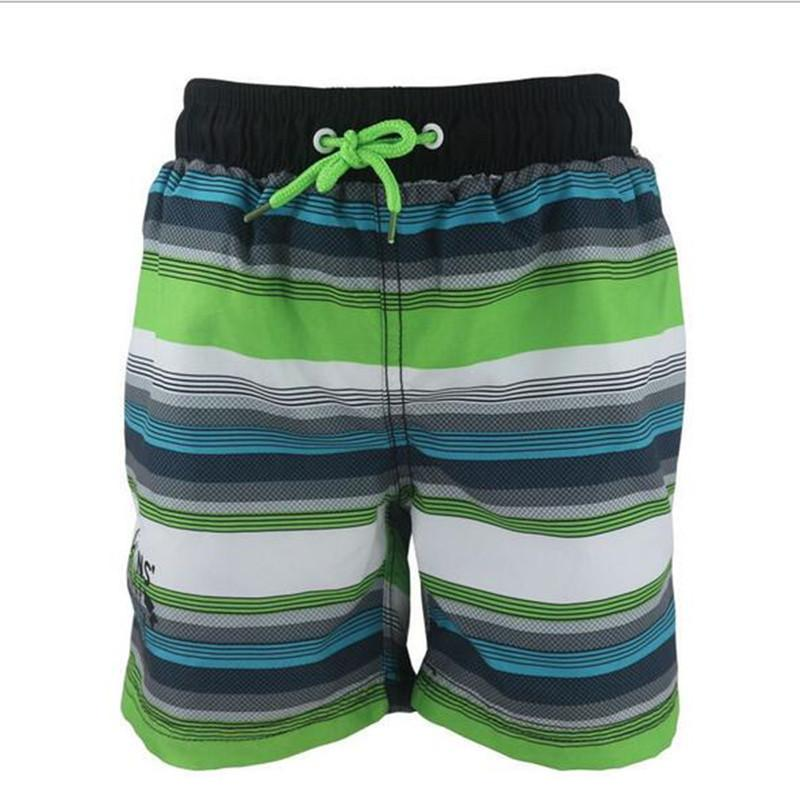 2dfb54ac14dcd 2019 Funfeliz Boys Swimwear Striped Swimming Trunk For Boys Board ...