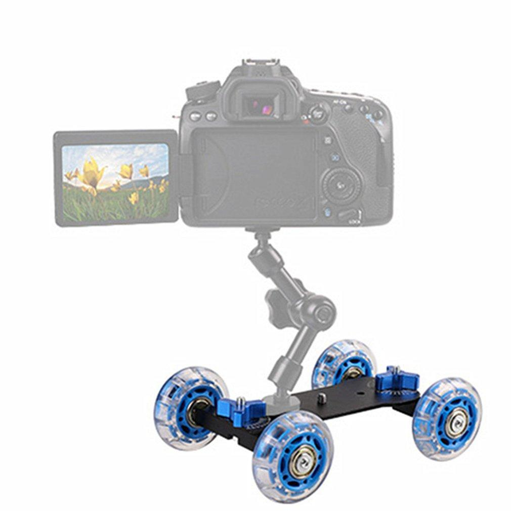 "Mobile Rolling Sliding Dolly Stabilizer Skater Slider 11""Articulating Magic Arm Camera Rail Stand Photography Car For 7 6"