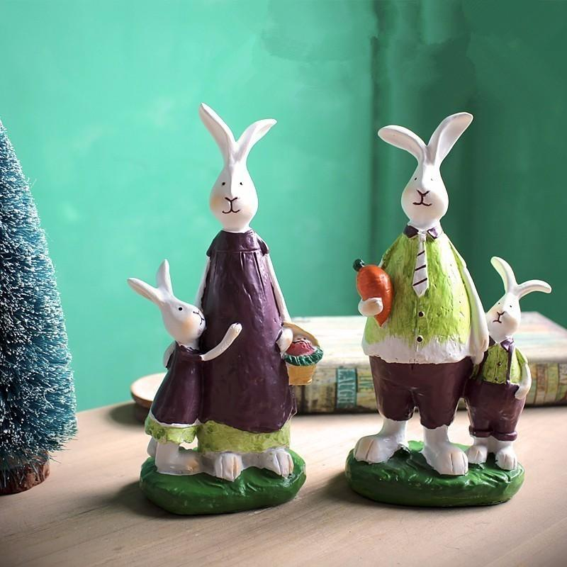 2019 Rabbit Home Decor Kawaii House Decoration Items Bunny Resin Figurine Elimelim From Tim2012 1686