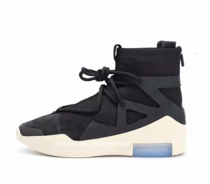detailed look 354c3 73560 2018 new release air fear god 1 men s shoes FOG boots light bone black sail  men s sports and leisure zoom boots AR4237-002. Store-wide Discount