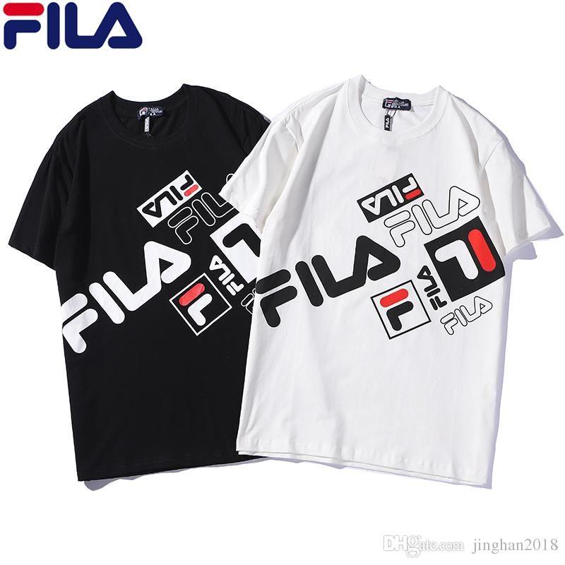 ac2ae65942276 2019 summer short-sleeved T men's fashion full print sports letter cotton  short-sleeved shirt top