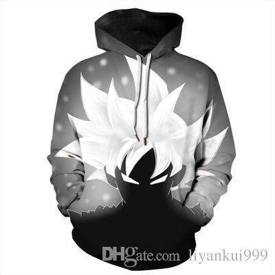 b824b589e02 Unisex Realistic Hooded Sweatshirts 3D Digital Dragon Ball Printed ...