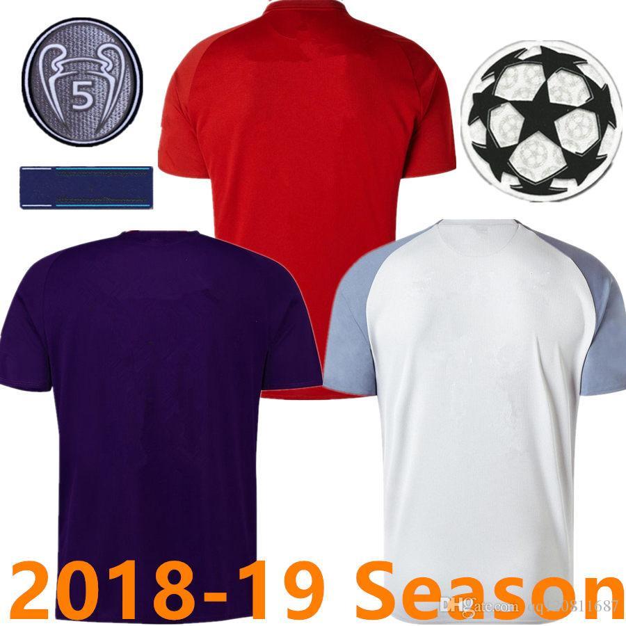 3c11aef72 Compre Tailândia Qualidade SALAH Camisas De Futebol 2018 2019 ...