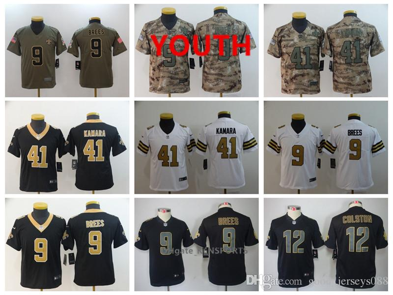31dc977a5 Youth New Orleans Football Saints Jersey 9 Drew Brees 41 Alvin ...
