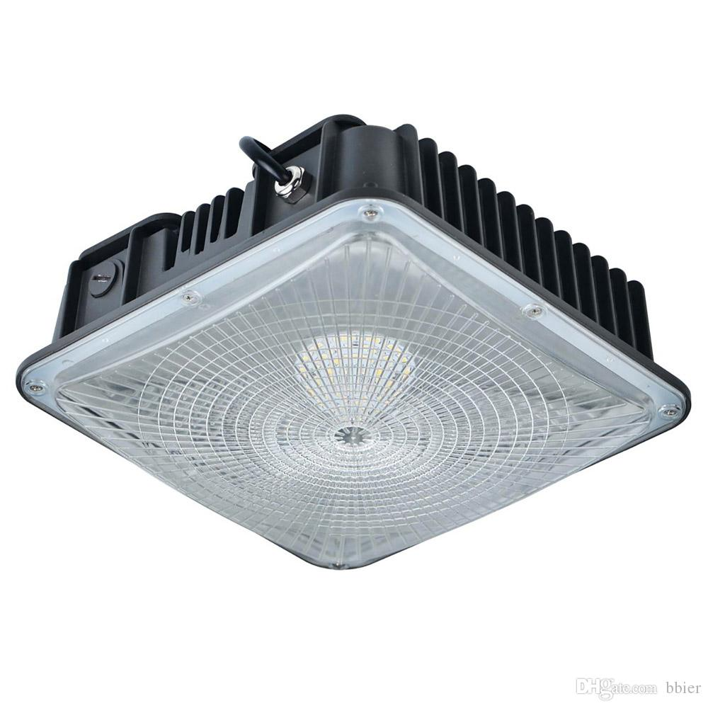 2019 Led Canopy Light Fixtures 80w 8800lm Gas Station Lights Ceiling