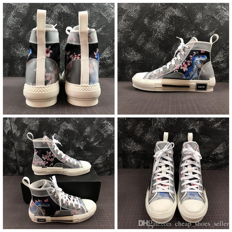 eee2bb1f54 2019 Moda Donna Scarpe Fiori dinosauro Estate Casual Scarpe Donna Zapatos  De Mujer Zeppe Piattaforma B23 High-Top Sneakers basse In Oblique