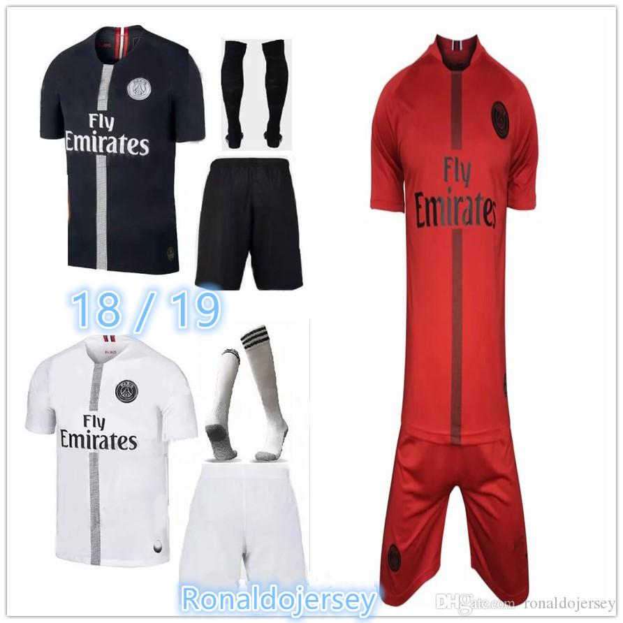 b741b7b71 AAA+18 19 MBAPPE Home Away Soccer Jersey Uniform 2018 2019 CAVANI ...