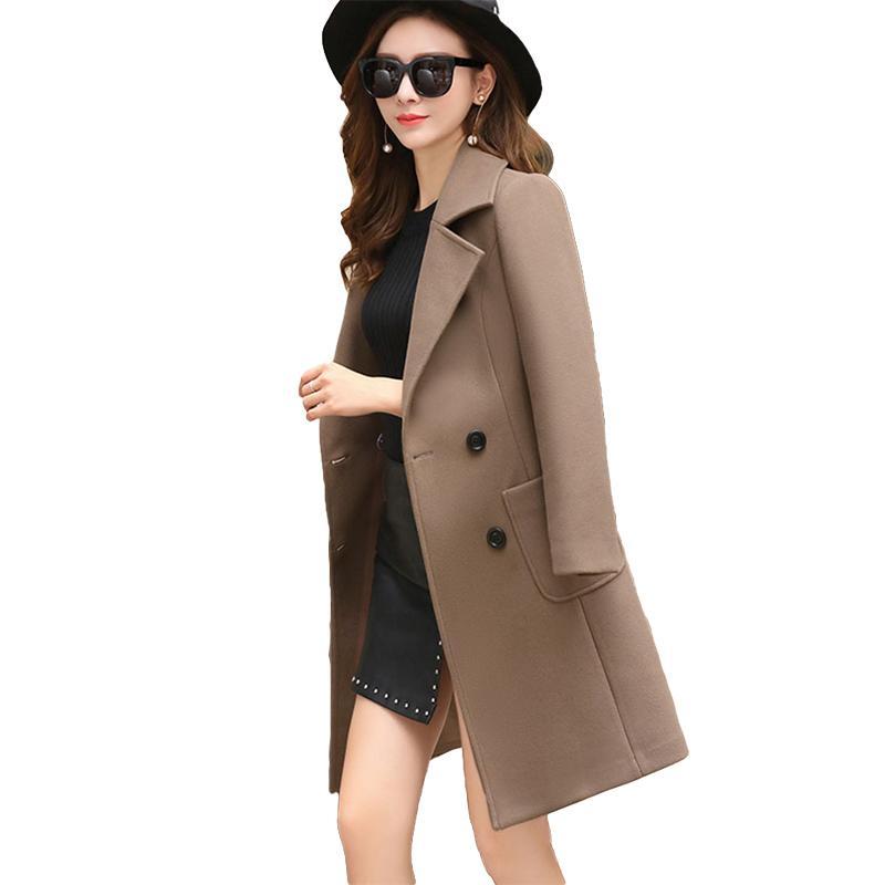 95e62f710 VogorSean Women Wool Coats Jackets Winter 2018 New Slim Fit Fashion Casual  Plus Size Women s Jacket Coat Khaki/Green