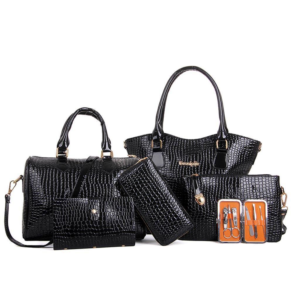 Set Bag Women Fashion Handbag Shoulder Bags Six Pieces Tote Bag Crossbody  Pu Leather Handbags Female High Quality Bags Satchel Bags Man Bags From  Keeping09 6f8bf035a46bd