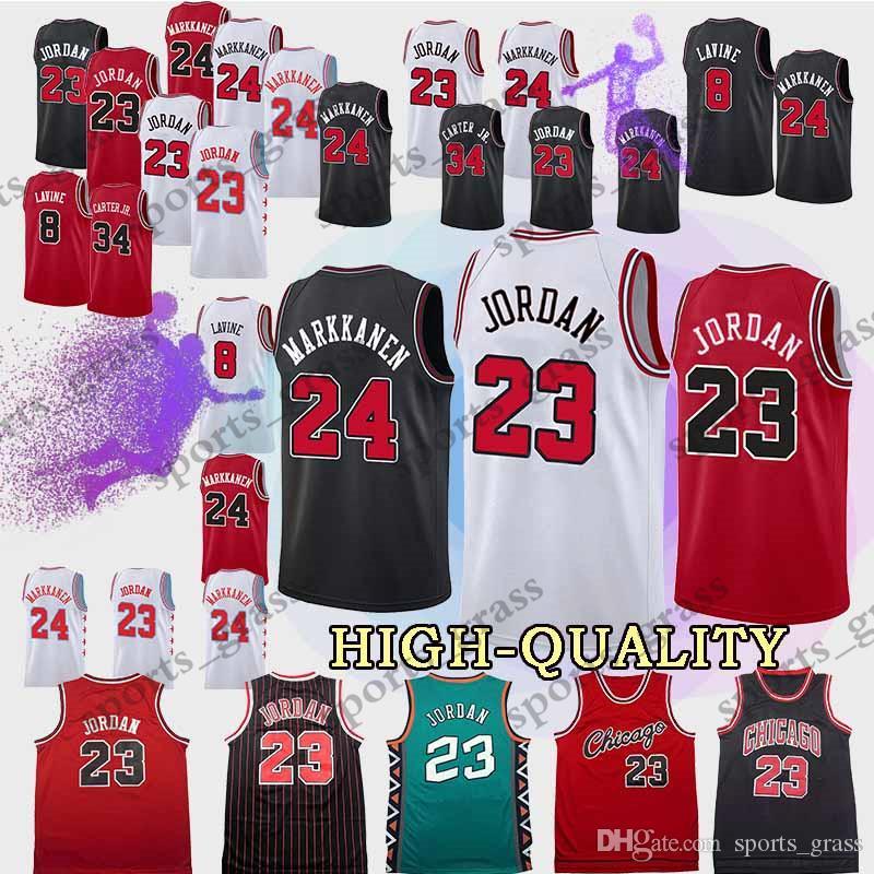 079be3babf53 Top Quality Chicago Lauri 24 Markkanen Bulls Zach 8 LaVine Jerseys ...