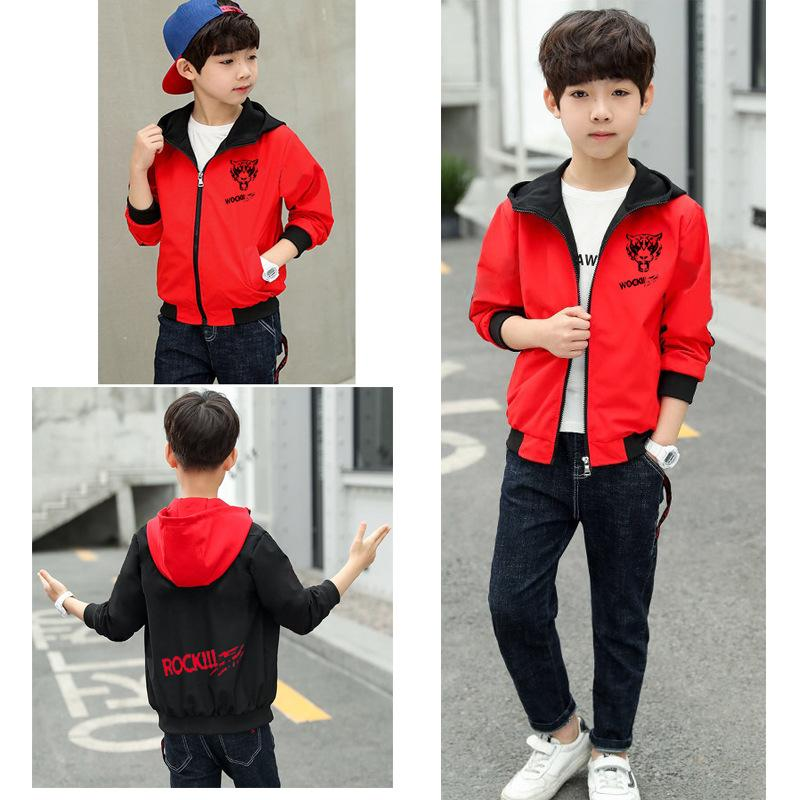 Boys Jacket New arrival 3-13y Clothing For Baby Boys Coat Solid Color Flight Jacket Hooded Autumn Kid Outerwear Children Clothes
