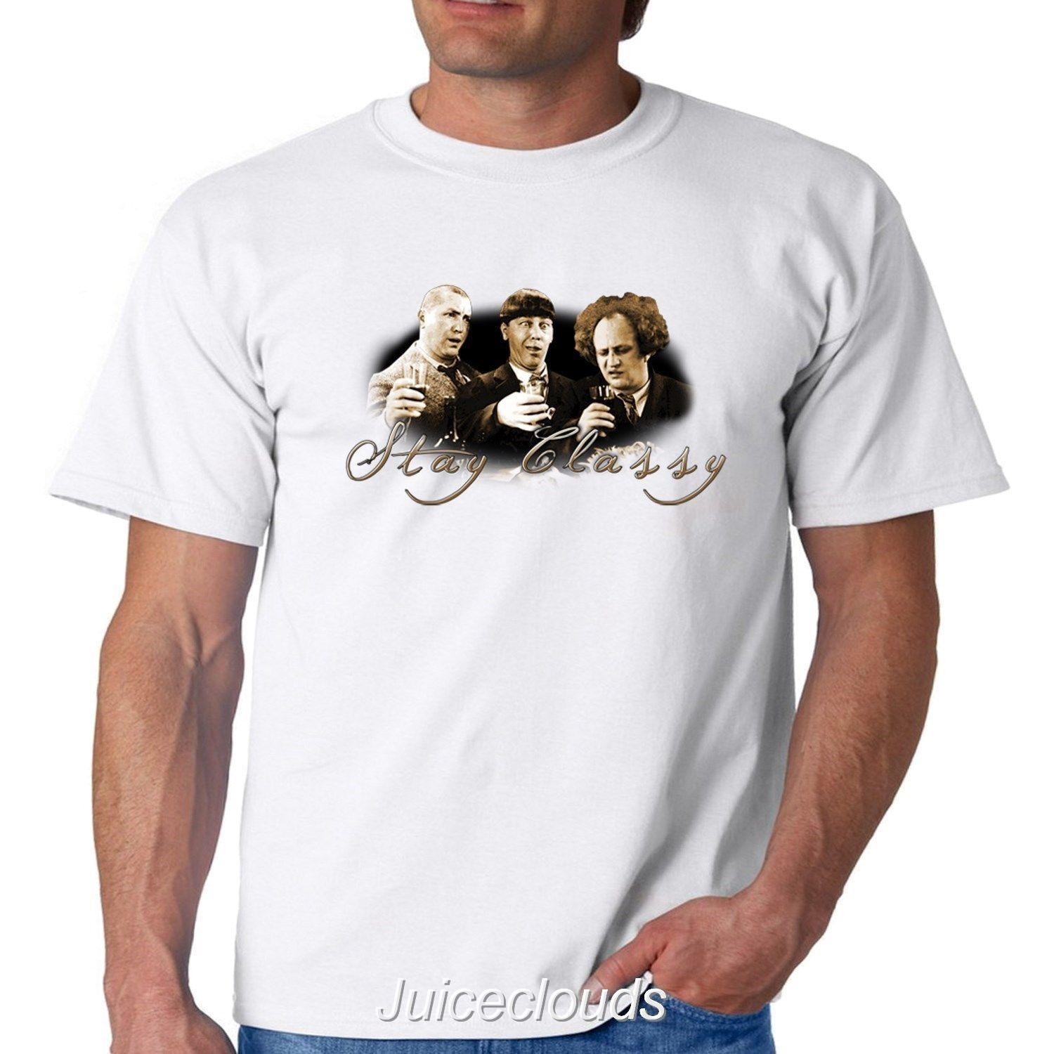 bfe6ea9d19 Funny Three Stooges Stay Classy Men'S T Shirt Larry Moe Curly Tee Shop T  Shirts Online T Shirt Shirt From Cheaptshirts48, $11.58| DHgate.Com