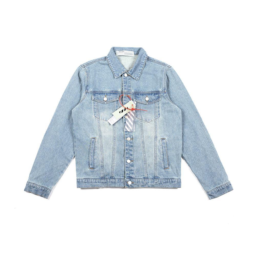 Iatest Ankunft Mode Herren Denim Hip Hop Jacken für Frauenkleidung Brief gedruckt Männer Mäntel Retro Style Marke Kleidung Streetwear OFF W4