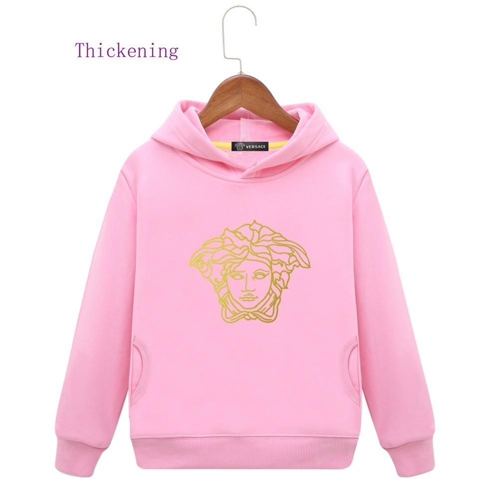 dfafb663c10a8 Kids Brand Hoodies Winter Clothes Plus Cashmere Even Hat Girl Thickening  Children Belt Shirt Student Sweater Colors Baby Clothing Kids Hoodies  Hooded ...