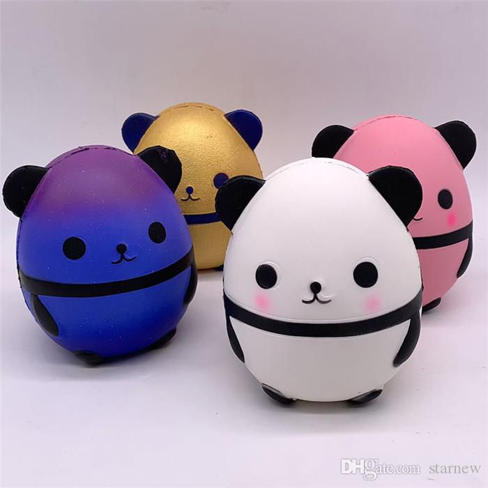 Advertising Jumbo Squishy Kawaii Panda Bear Egg Candy Soft Slow Rising Stretchy Squeeze Kid Toys Relieve Stress Phone Straps Children Gifts Traveling