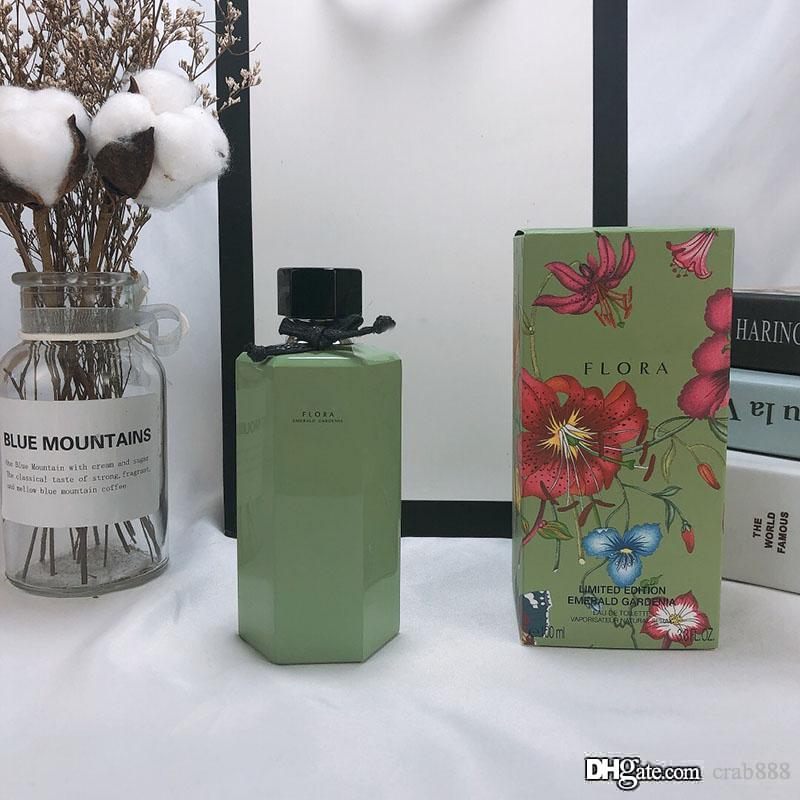Neutral Perfume Flora Gorgeous Gardenia 100ml 3.3Floz EDT Avocado Bottle Limited Edition Special Design Long Lasting Free Delivery