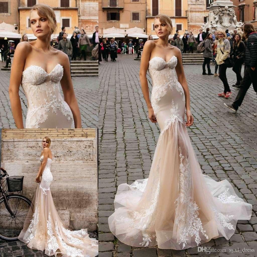 999495eb1e4a 2019 Vintage Plus Size Lace Boho Bohemian New Champagne Mermaid Wedding  Dresses Bridal Gowns Sweetheart Vestidos De Novia Simple Wedding Gowns Uk  Wedding ...